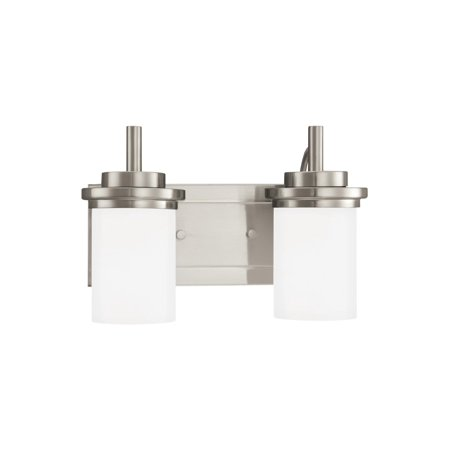 Sea Gull Lighting Downrod (Sea Gull Lighting 44661EN Winnetka 2 Light 14