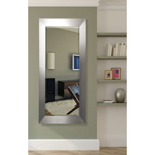 American Made Rayne Wide Floor Mirror Silver Extra Tall Rectangle by Rayne Mirrors
