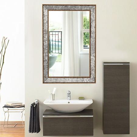 mirror beveled rectangle vanity bathroom furniture decor w wide edge