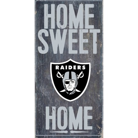 Oakland Athletics Wood Sign - Oakland Raiders 6'' x 12'' Home Sweet Home Sign - No Size