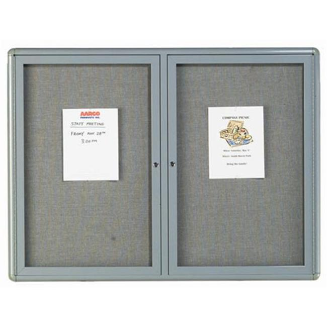 Aarco Products Enclosed Bulletin Board with Sleek Radius Design