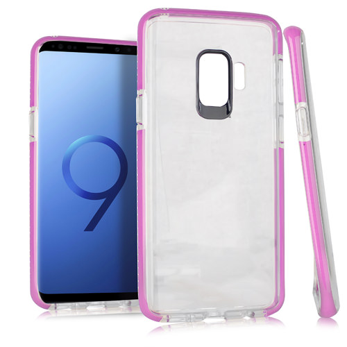 MUNDAZE Pink Candy Acrylic Clear Case For Samsung Galaxy S9 Phone