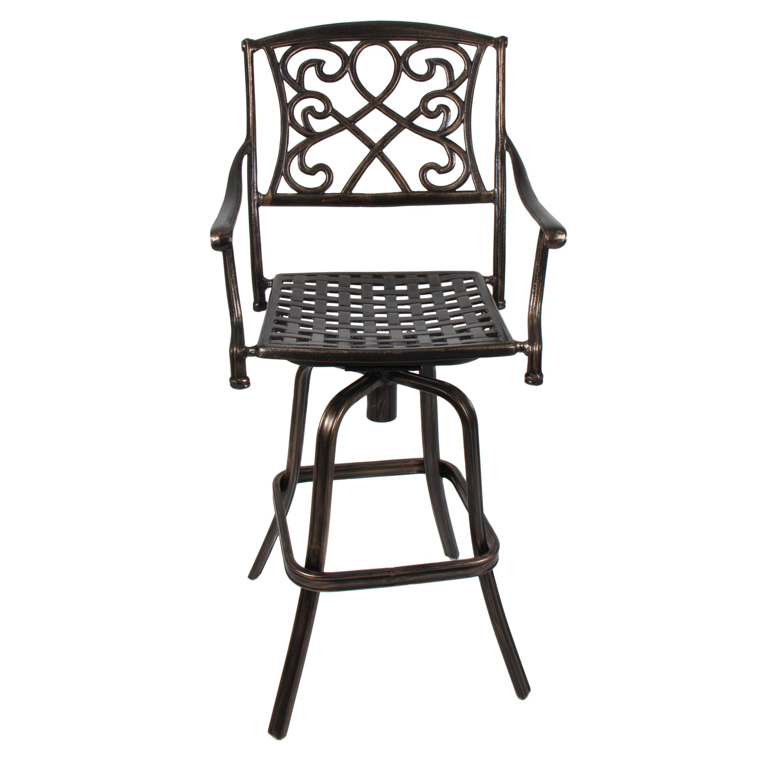 Lovely Bar Height Patio Set with Swivel Chairs