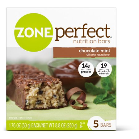 Protein Bar Chocolate Mint (ZonePerfect Nutrition Bar Chocolate Mint High Protein Energy Bars 1.76 oz Bars (Pack of 5) )