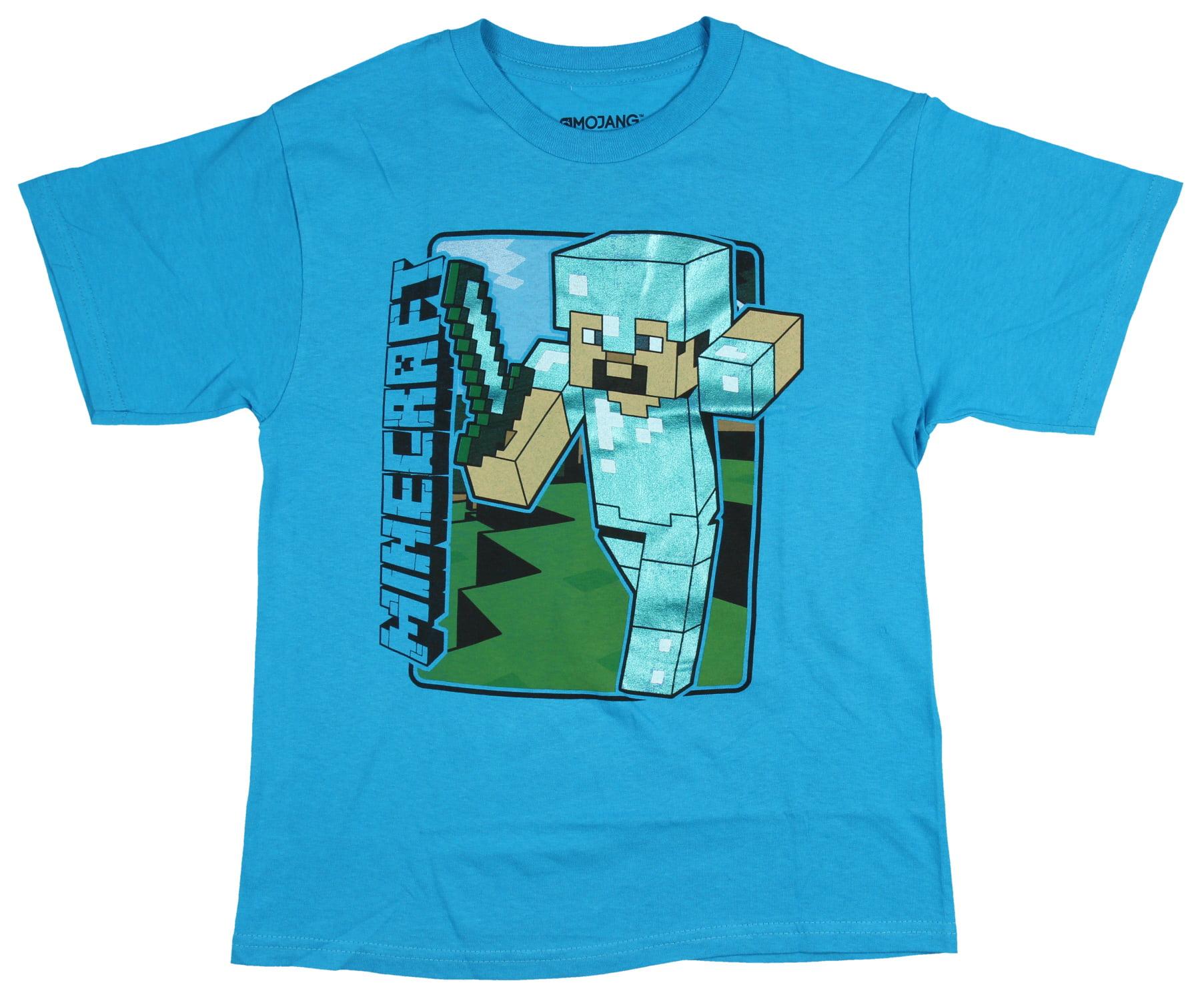 Minecraft Shirt for Boys Art Deco Steve Short Sleeve Tee