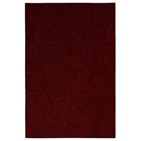 Solid Color Indoor Area Rugs, Burgundy - 5'x7' ()
