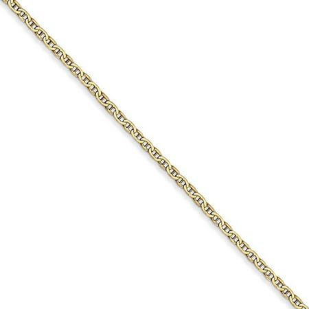 1.5mm, 14k Yellow Gold, Solid Anchor Link Chain Necklace, 16 Inch ()
