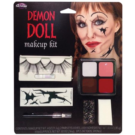 Morris Costumes FW5638AD Demon Doll Face Make Up Kit Costume - Doll Face Makeup Halloween