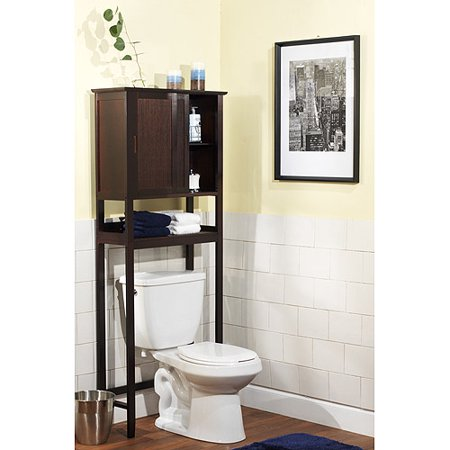 bamboo over the toilet space saver espresso. Black Bedroom Furniture Sets. Home Design Ideas