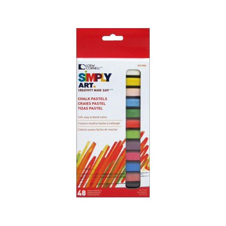 Loew Cornell 1021088 Simply Art Chalk Pastels, A spectrum of colors By Loew-Cornell