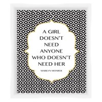 PTM Images A Girl Doesnt Need Anyone Framed Wall Art