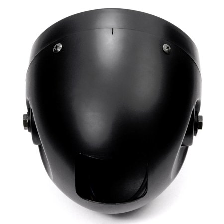 "Krator 7"" Black LED Motorcycle Headlight w/ Side Mounting Running Light High / Low Beam for Harley Davidson Softail Fat Boy FLSTF - image 2 de 6"