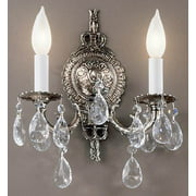 10 in. Barcelona Wall Sconce in Millennium Silver Finish (Italian)