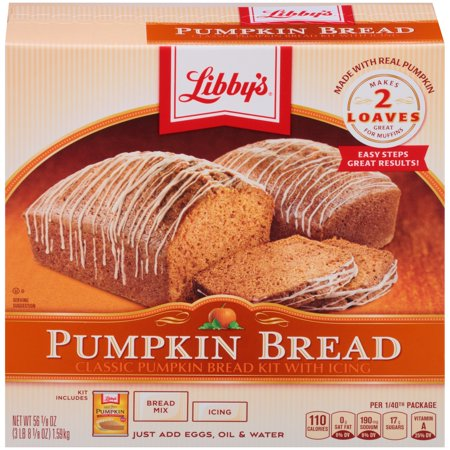 LIBBY'S Classic Pumpkin Bread Kit with Icing 56 1 oz  Box - Walmart com