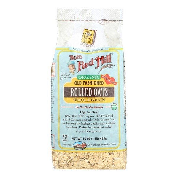 Bob's Red Mill Organic Old Fashioned Rolled Oats - 16 Oz - Case Of 4