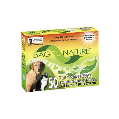 Bag To Nature 1096197 Bag To Nature Biodegradable Pet Bags - 50 Pack