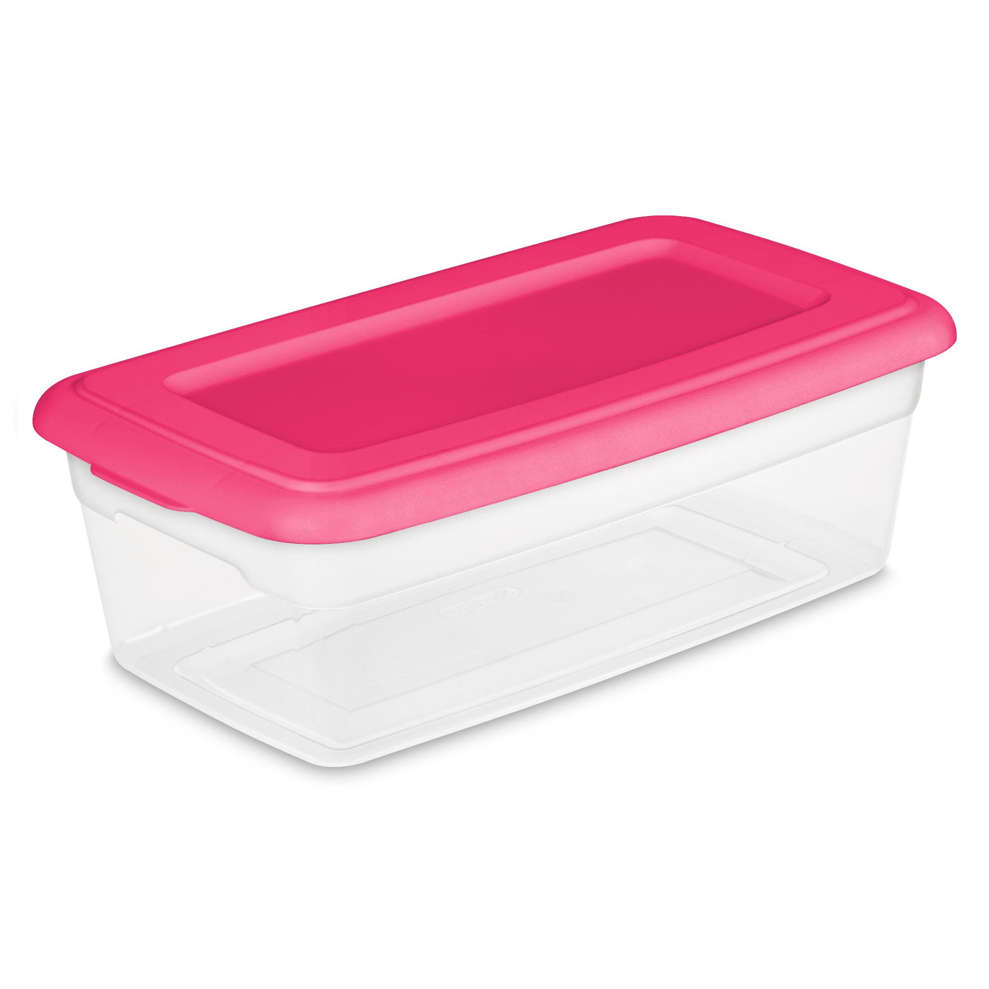 Sterilite 6 Qt Storage Box, Fuchsia Burst