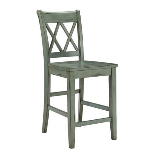 Ashley Mestler 24 Quot Counter Stool In Antique Blue And Green
