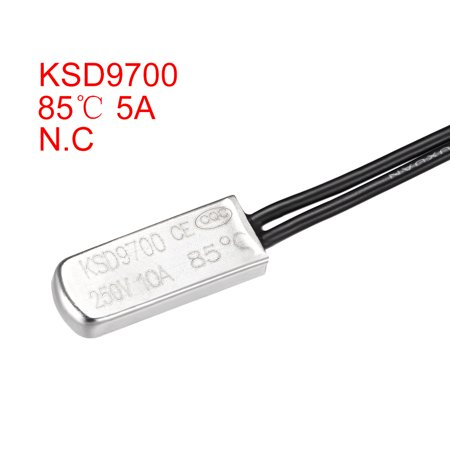 KSD9700 Thermostat, 85鈩?N.C 10A Metal Bimetal Temperature Control Switch 2pcs - image 1 of 3