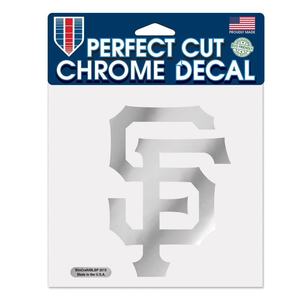 San Francisco Giants Official MLB 6 inch  x 6 inch  Chrome Perfect Cut Decal by Wincraft