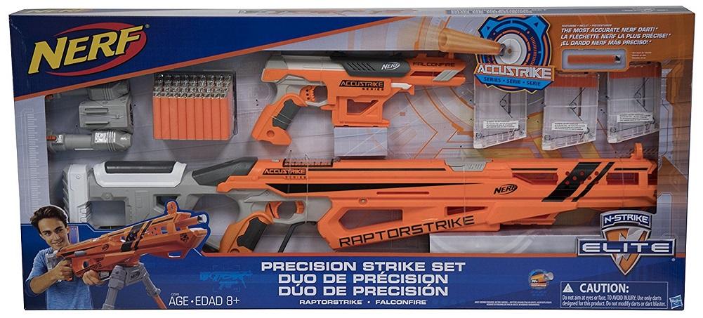 Nerf N-Strike Elite Precision Strike Set RaptorStrike and FalconFire Blasters by Nerf