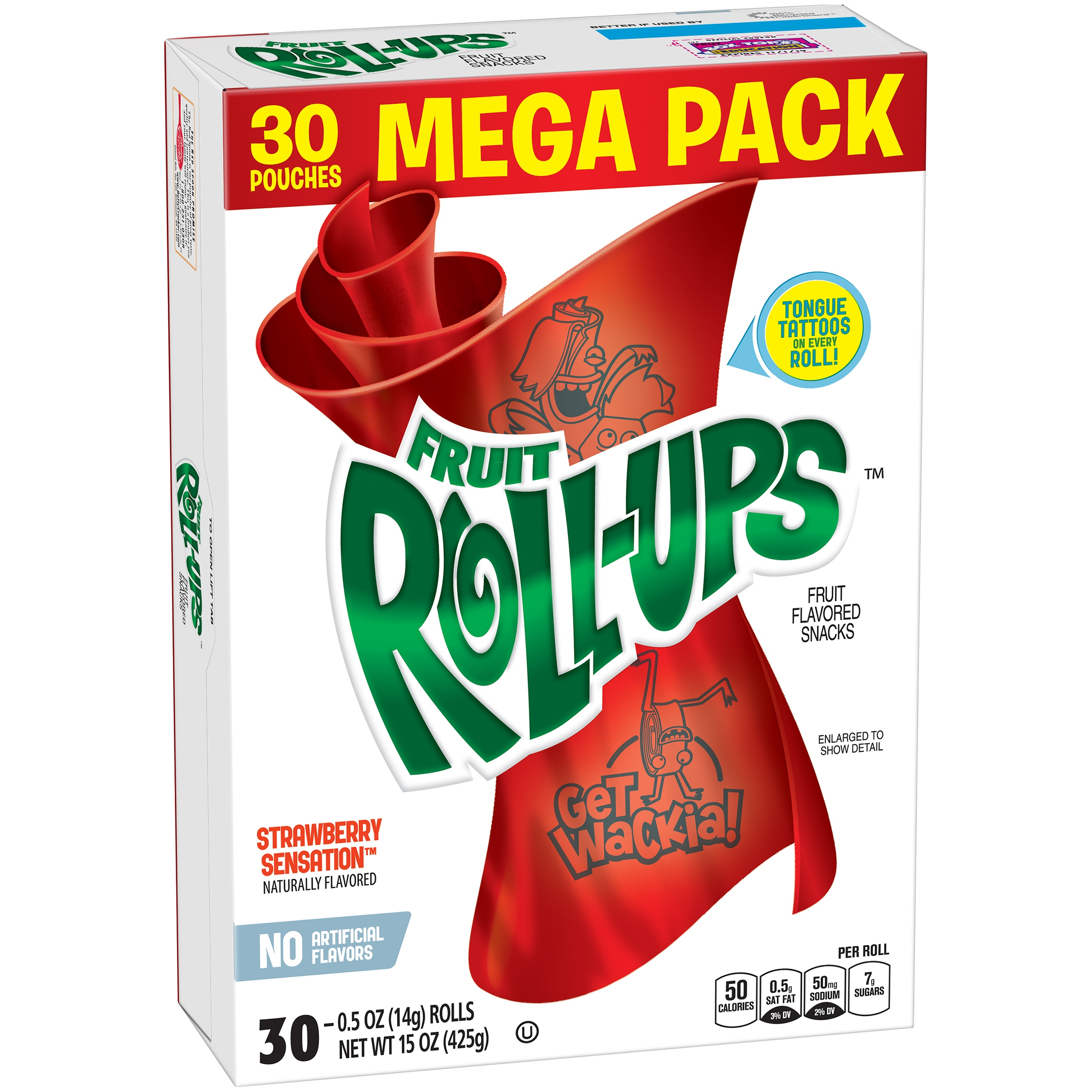 Betty Crocker® Fruit Roll-Ups Mega Pack, Strawberry Sensation, 30 Ct