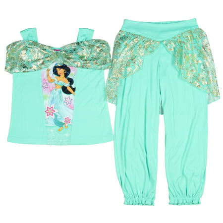 Disney Girls' Princess Jasmine Fantasy 2-Piece Pajama Set - Disney Princess For Girls