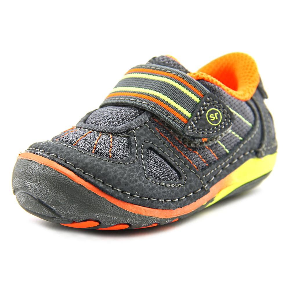 Stride Rite SRT SM LINK Infant  Round Toe Leather Gray Sneakers