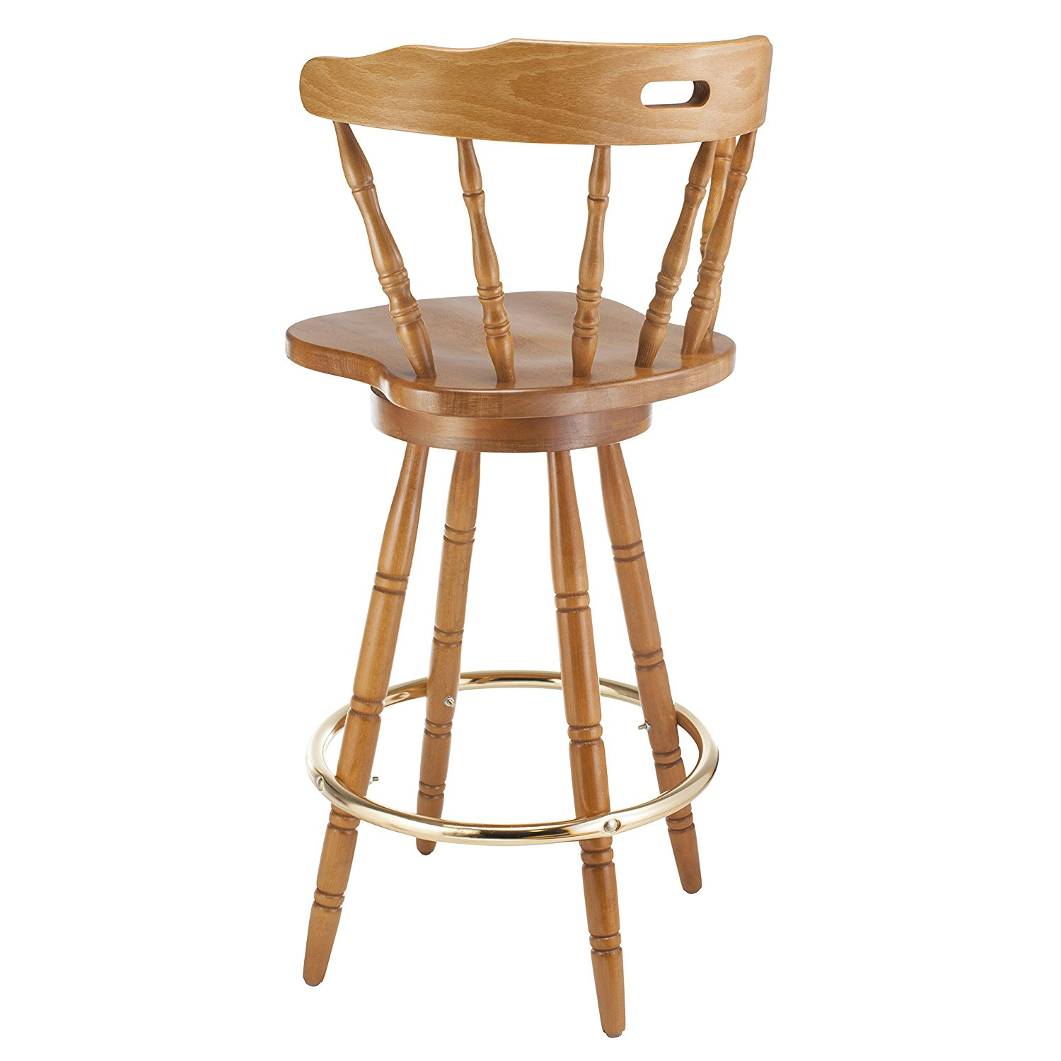 Beechwood Mountain Bsd-33B-C Solid Beech Wood bar Stool in Cherry for Kitchen & Dining, NA by Overstock