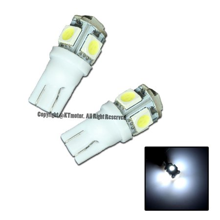 Extreme Online Store 2 Pcs White T10 5-SMD Wedge 5050 LED Light Bulbs 192 194 W5W 168 Xenon Extreme Online Store 2 Pcs White T10 5-SMD Wedge 5050 LED Light Bulbs 192 194 W5W 168 Xenon