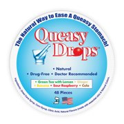 Three Lollies Queasy Drops Assorted for Nausea Relief, 48 Count