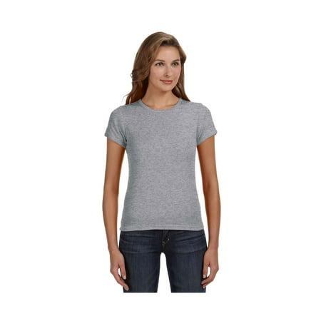 Cap Sleeve Animal (Anvil Women's Double Needle Cap Sleeve Scoop T-Shirt, Style 1441 )