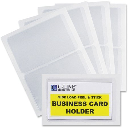 C line self adhesive business card holders walmart c line self adhesive business card holders colourmoves