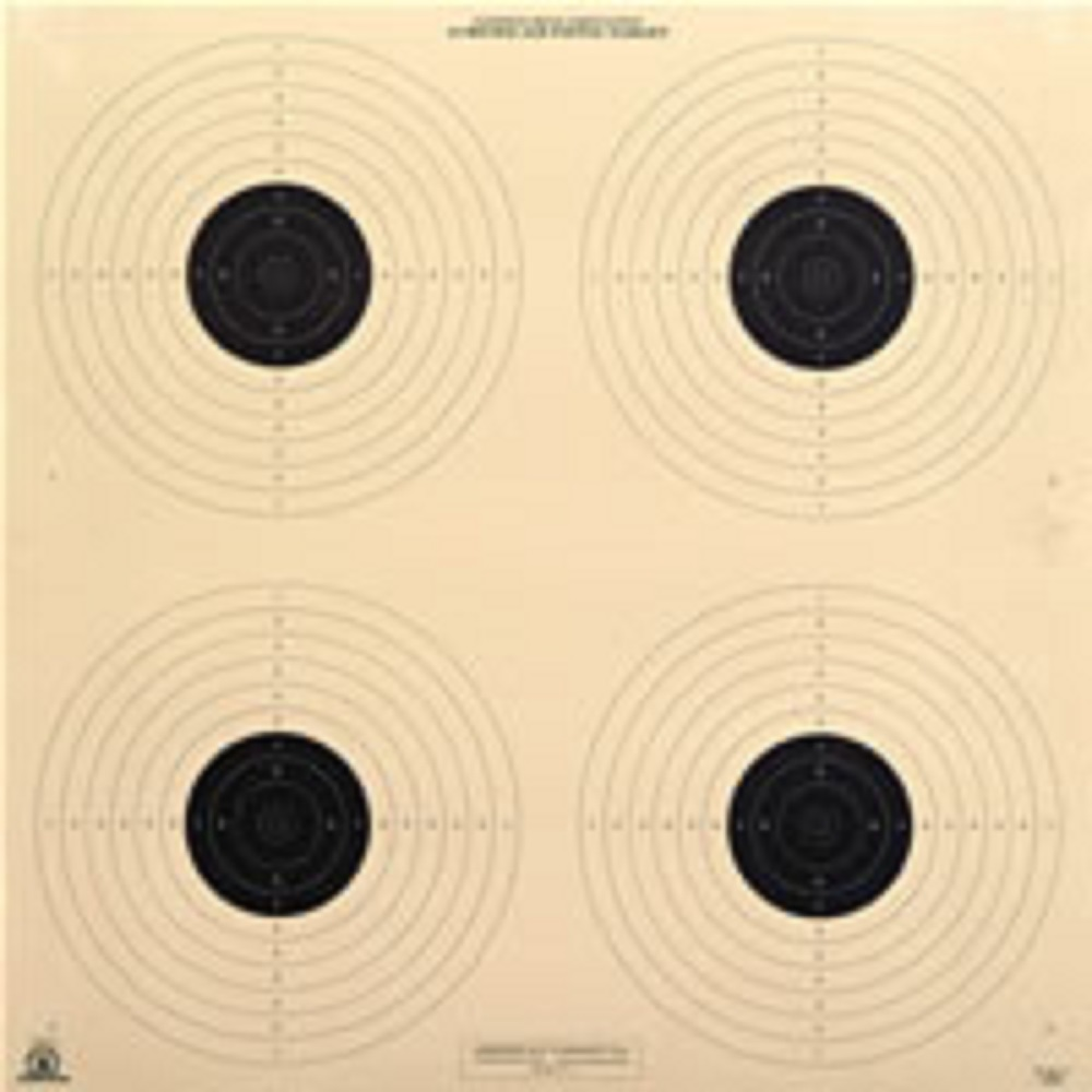 10 Meter (33 Ft.) Air Pistol 4 Bullseye Official NRA Target B40 4 (pack of 100) by