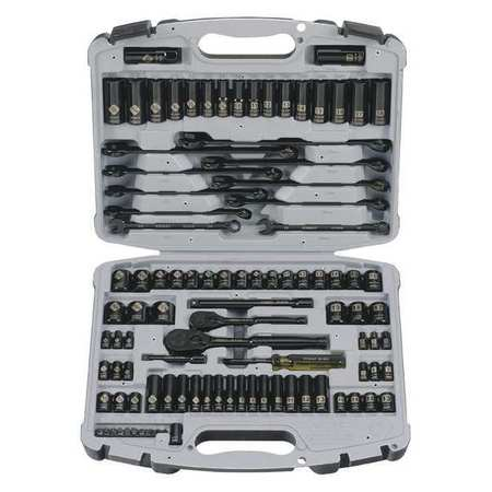 STANLEY 99-Piece Mechanics Tool Set, Black Chrome | 92-839