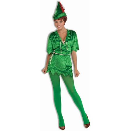 Womens  Peter Pan Fairy Costume