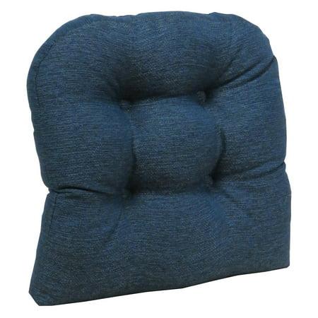 Klear Vu Gripper Non-Slip 17 x 17 Omega Tufted Universal Dining Chair Cushion ()
