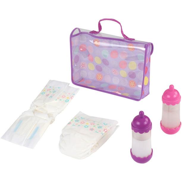 My Sweet Love Baby Doll Diaper Bag 5 Piece Play Set Walmart Com Walmart Com
