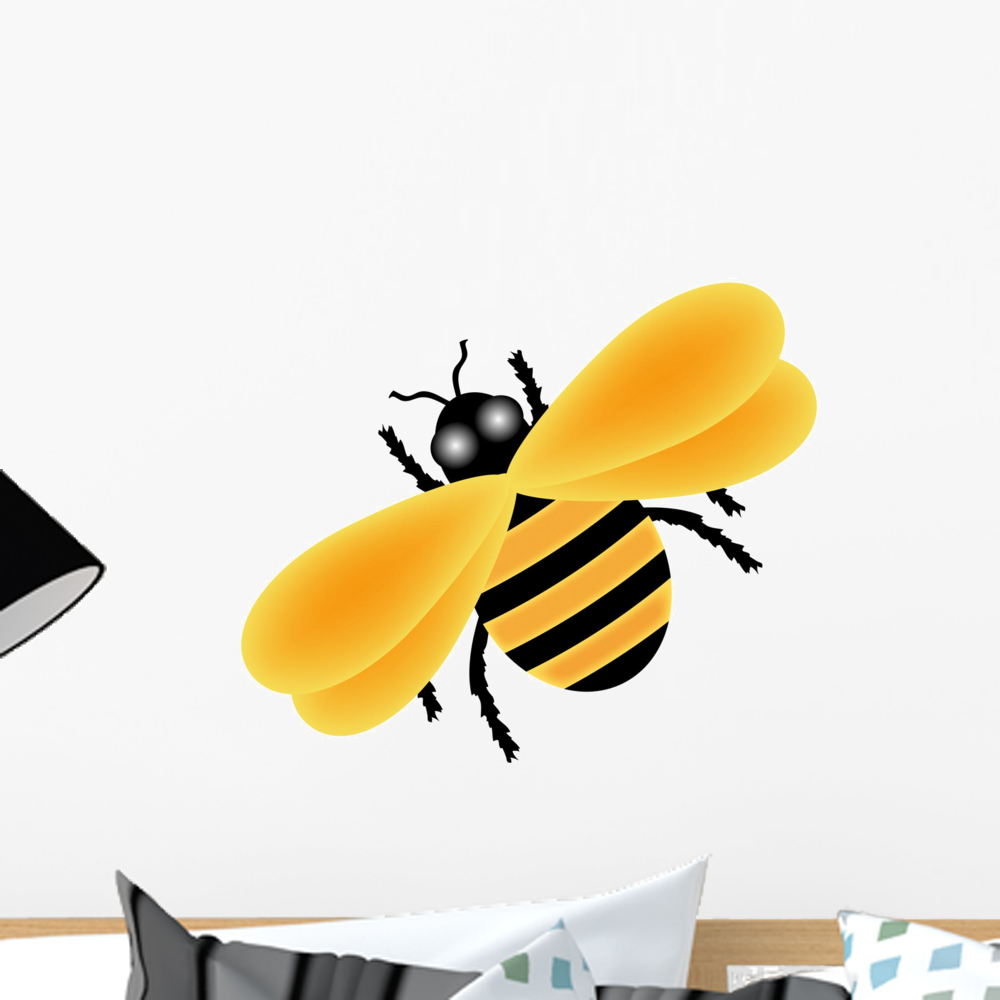 Illustration Yellow Bumble Bee Wall Mural by Wallmonkeys Peel and ...