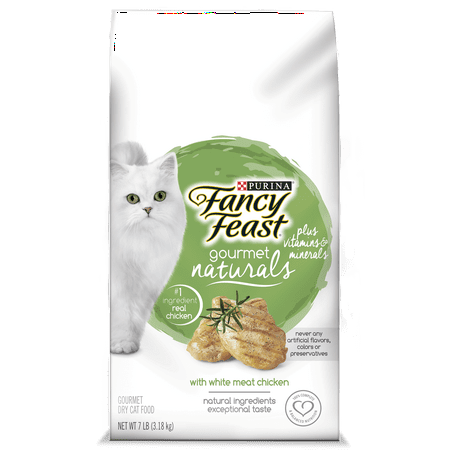 Fancy Feast Gourmet Naturals with White Meat Chicken Dry Cat Food, 7 lb (Meat Platter Cart)