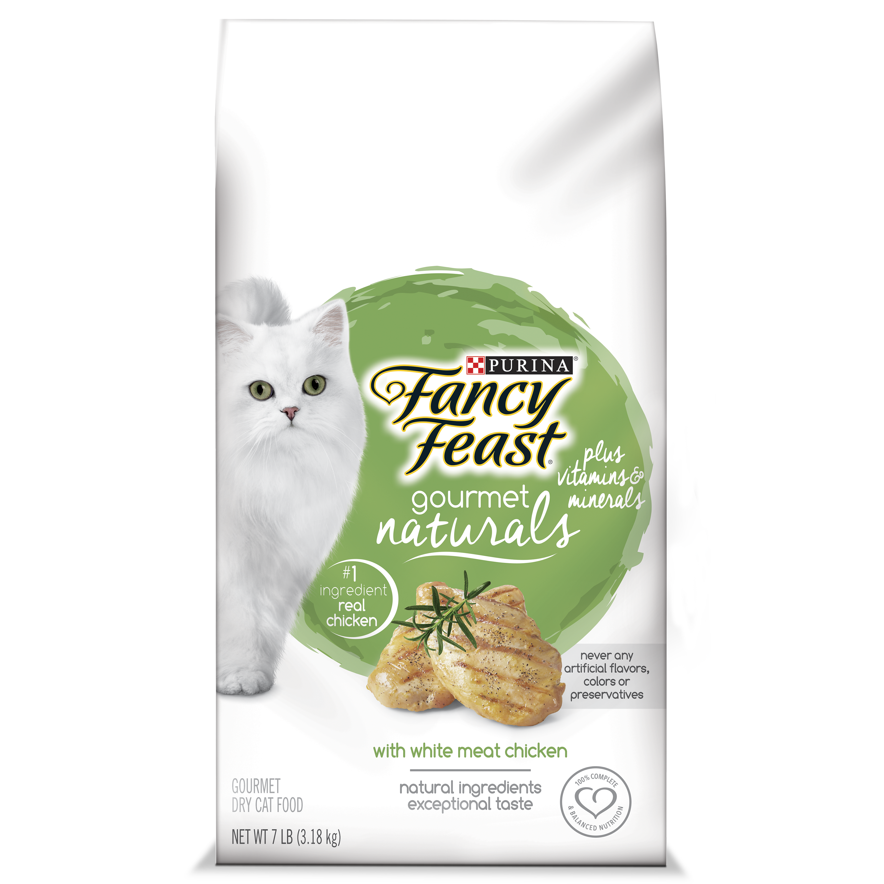Fancy Feast Gourmet Naturals White Meat Chicken Dry Cat Food (Various Sizes)