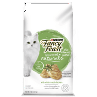 Purina Fancy Feast Gourmet Naturals With White Meat Chicken Plus Vitamins & Minerals Dry Cat Food - One (1) 7 lb. Bag