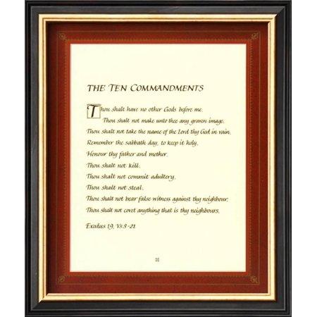 The Ten Commandments Framed Art Print Wall Art - 9x11 - Walmart.com