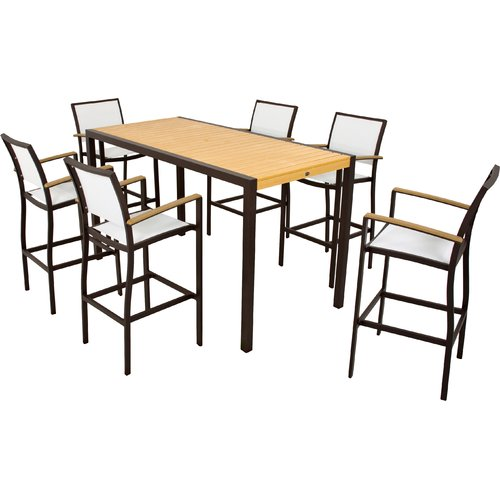 POLYWOOD Bayline™ 7 Piece Bar Height Dining Set