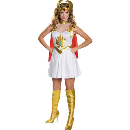 she ra classic womens plus size adult halloween costume one size 18 - Size 18 Halloween Costumes