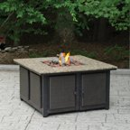 Bronze 48 Quot Lp Gas Fire Pit With Round Corners Walmart Com
