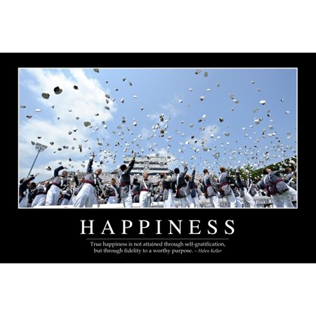 Happiness Inspirational Quote And Motivational Poster Canvas Art   Stocktrek Images  34 X 23