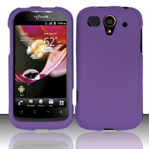 Hard Rubberized Case for Huawei myTouch U8680 - Purple