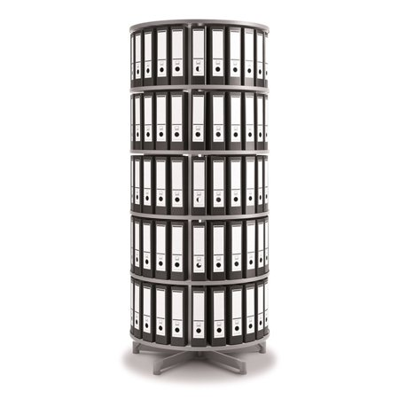 Spin N File Five Tier Rotary Binder Storage Carousel