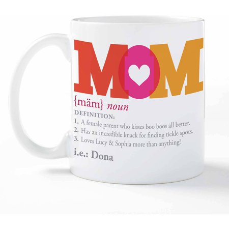 Personalized Definition Of Mom Coffee Mug